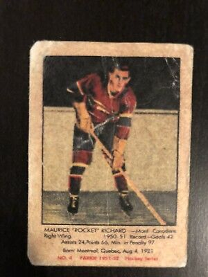 1951 Original Maurice Richard Rookie !!