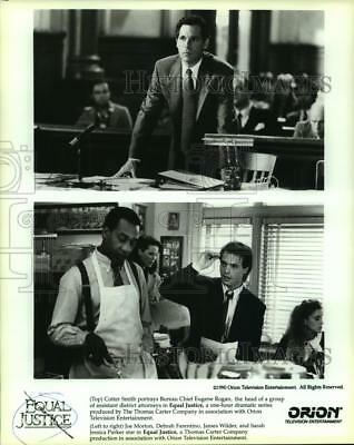 """1990 Press Photo Scenes from """"Equal Justice,"""" Orion Television Entertainment"""