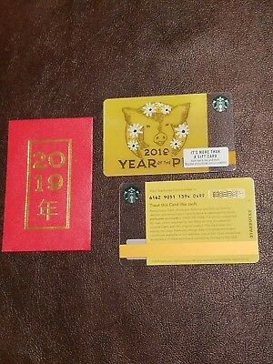 w/sleeve 2019 Starbucks YEAR OF THE PIG series 6162 Gift Card - USA