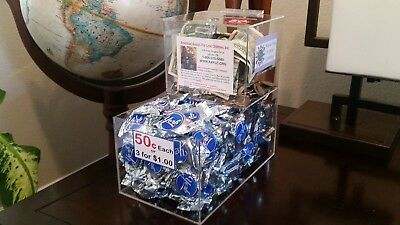 10 New Locking Acrylic Honor Candy Selling Donation Box Vending Route Business!