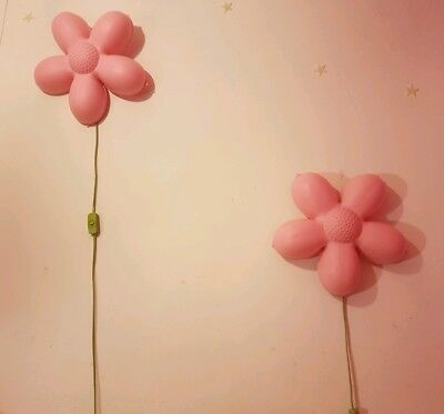 IKEA Kids Wall Lamp Pink Flower Smila