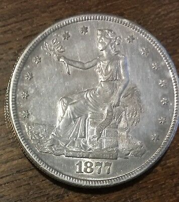 1877-S UNITED STATES TRADE SILVER MORGAN DOLLAR ***FREE*** s/h
