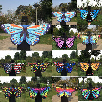 US Sale Fabric Butterfly Wings Fairy Ladies Nymph Pixie Party Costume Accessory