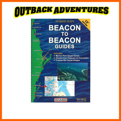 Marine Maps Beacon To Beacon Guides 13Th Edition Yeppoon To Currumbin Boating