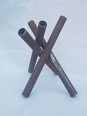 Abstract Industrial Metal Pipe Abstract Metal Sculpture Rusty Oblique Art Upcyle