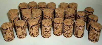 Lot of 20 Clean CORKS With Grapes & Leaves Printed Crafts & Projects