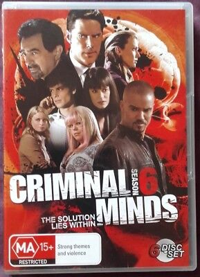 Criminal Minds Season 6 Dvd - Used Very Good Condition - R4