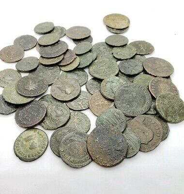 Ancient Roman Empire Bronze Coins 240-410 Ad Antique All Over 1500 Years Old!