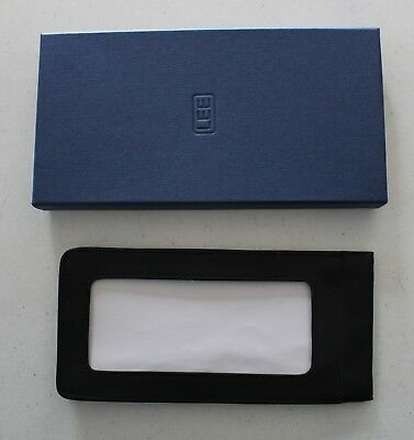 Black Leather Eyeglass Case for Needlework - in box - Reduced Price