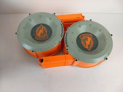 Lot of 2 Nerf N-Strike Ammo Drum 35 Dart Count Round Magazines Tested working