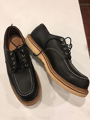 MINTY RED WING 8106 Classic Heritage Oxford Moc Toe Black