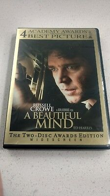 A Beautiful Mind (DVD, 2002, 2-Disc Set, Widescreen) Like New! Russell Crowe