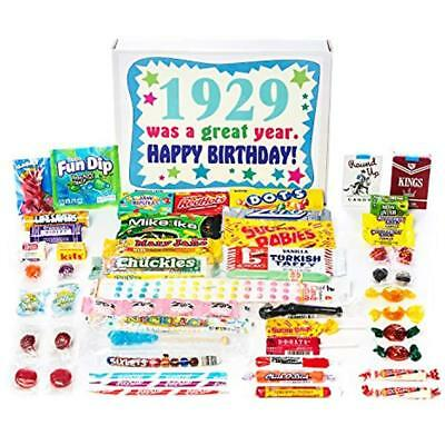 1929 90th Birthday Gift Box Of Nostalgic Candy From Childhood For Year Old Man ""