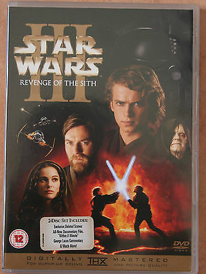 """2 Disc Special Edition Dvd -""""star Wars Iii - Revenge Of The Sith"""" 2005 - As New"""