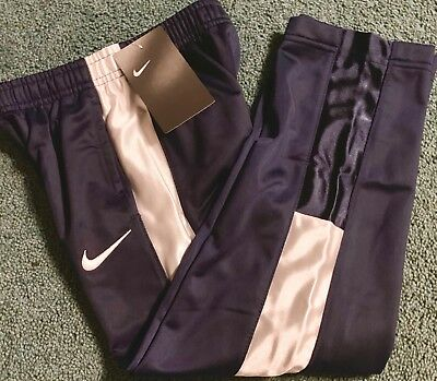 739809966 NWT Boys Nike 6 Navy Blue/White Shiny Stripe Athletic Track Pants Size 6