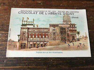 carte postale ancienne publicitaire N 30 chocolat abbaye d igny