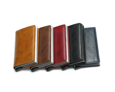 Leather RFID Protection Blocking Wallet Card Case Money Clip Purse Wallet