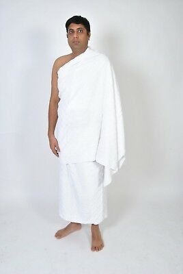 Two Pieces Towel Men's Ihram Ehram Ahram Standard Adult Size For Hajj and Umrah