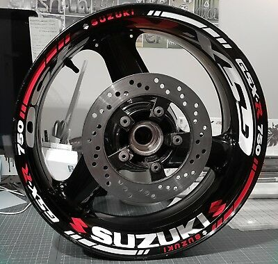 Wheel Stickers Rim Tape, 48 pieces Suzuki GSXR 600/750/1000 bandit Bking gsr gsx
