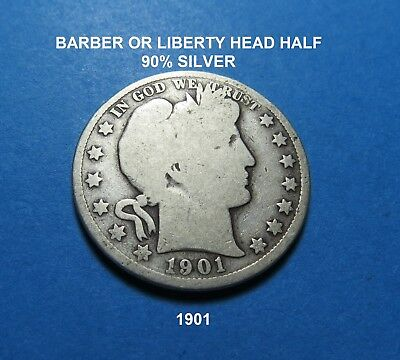 1901  BARBER OR LIBERTY HALF DOLLAR - FOR GIFT/SET - Combined Shipping ~LOT A85