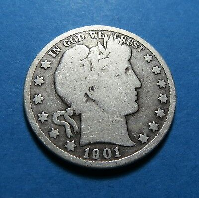 1901  Barber Or Liberty Half Dollar ~ For Collection Set ~ Comb Ship ~ Lot 180