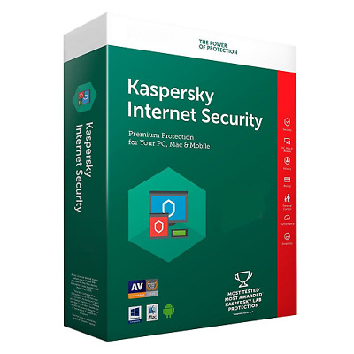 Kaspersky Internet Security 2019 1 year/Anno/per Mac Windows Android Ufficiale