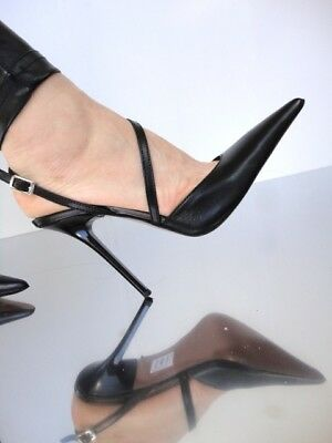 e0445b7fb91 CQ COUTURE ITALY Heel Pointy Pumps Schuhe Court Shoes Patent Leather ...