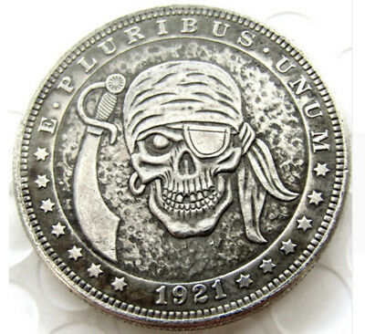1921 Hobo Morgan Dollar. Pirate