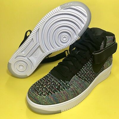 new products 02a35 4279b Men s Nike AF1 Air Force 1 Ultra Flyknit Mid Multi Color 817420-601 Men s  9.5