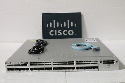 CISCO WS-C3850-24S-E WITH (1) PWR 350WAC supply SFP IP Services
