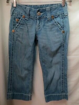b1e1a1400 TRUE RELIGION JEANS Womens Size 28 Sammy Big T Destroyed Distressed ...
