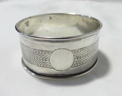 Antique Henry Griffith & Sons Sterling Silver Birmingham England Napkin Ring