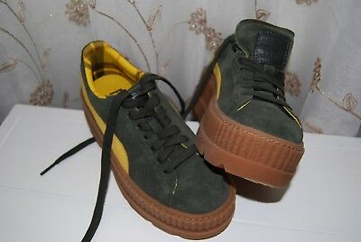 finest selection 508c6 08159 PUMA FENTY BY Rihanna CLEATED CREEPER SUEDE Green Yellow SZ US-WMS 6.5