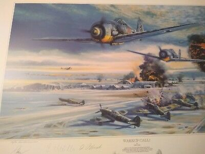 WAKE UP CALL Remarque by ROBERT BAILEY with Norway Patrol companion print.