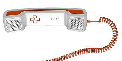 NEW SWISSVOICE CH05 CORDED HANDSET FOR MOBILE PHONE, TABLET AND PC (Orange)