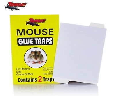 Tomcat Strong & Sticky Rat, Mouse Mice Glue Board Mat Traps 2 Glue Mats Per Pack