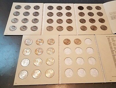 KENNEDY HALF DOLLAR Partial Set *1971-2001 P+D* 50 Different BU Pieces + Albums!