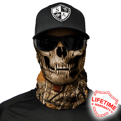 SA COMPANY Face Shield MULTI-USE TUBULAR BANDANA SA Forest Camo Skull