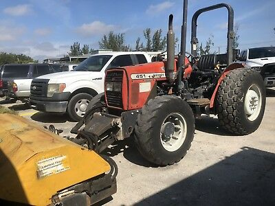 Massey Ferguson MF 451 x4 Diesel Tractor W/ PTO Broom Street Sweeper Attachment