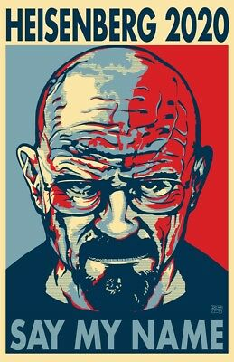 """HEISENBERG 2020 """"HOPE"""" Style Election Posters - 11""""x17"""" - Walter White"""