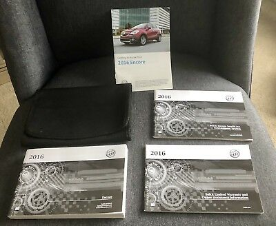2016 Buick Encore Owners Manual With Case And Navigation Oem
