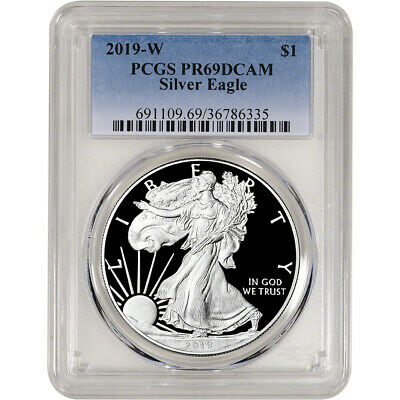 2019-W American Silver Eagle Proof - PCGS PR69 DCAM