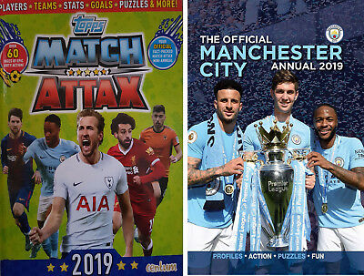 2 Annuals - Manchester City Annual 2019 AND Match Attax 2019 (Brand New)