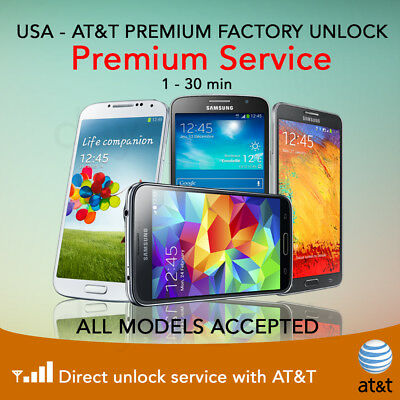 FACTORY UNLOCK Samsung Galaxy S3 S4 S5 S6 S7 EDGE AT&T SERVICE Note 2 3 4 5 CODE