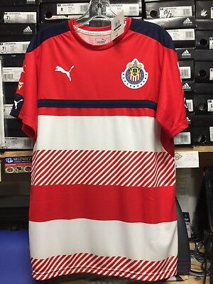 8e75b6b4aa5a PUMA CHIVAS TRAINING Jersey Red White Navy Size Large Only -  50.00 ...
