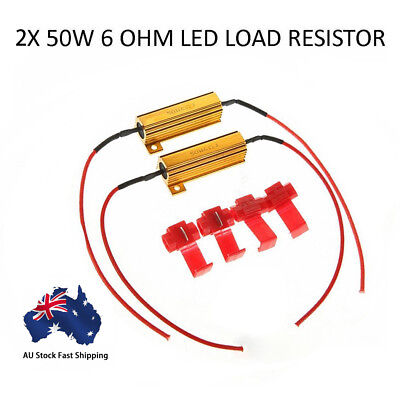 Aluminum Shell Resistance 2X 50W 6OHM SMD LOAD RESISTOR W/ 4 T-TAPS