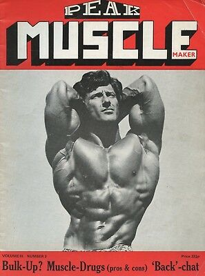 Vintage UK Peak Muscle Maker Bodybuilding Magazine Vol 3 No 2 Frank Zane