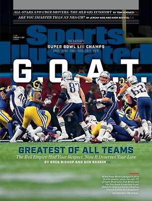 PATRIOTS SUPER BOWL SPORTS ILLUSTRATED FEBRUARY 11 2019 ( no mailing label )