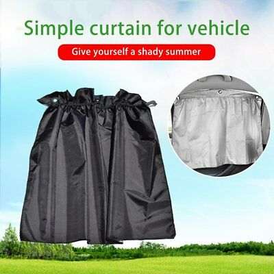 2 Car Sun Shade Side nylon Mesh Window Curtain Foldable Sunshade UV Protect Q1