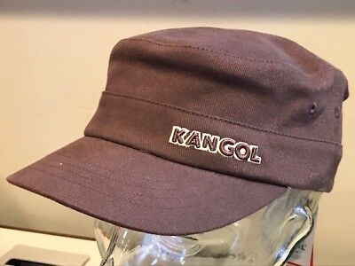 cc38e0a12c3 Kangol Cotton Twill Army Cap Navy Military Brown FlexFit S M Fitted Hat Cap